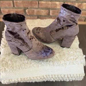 Steve Madden Gaze purple velvet bootie